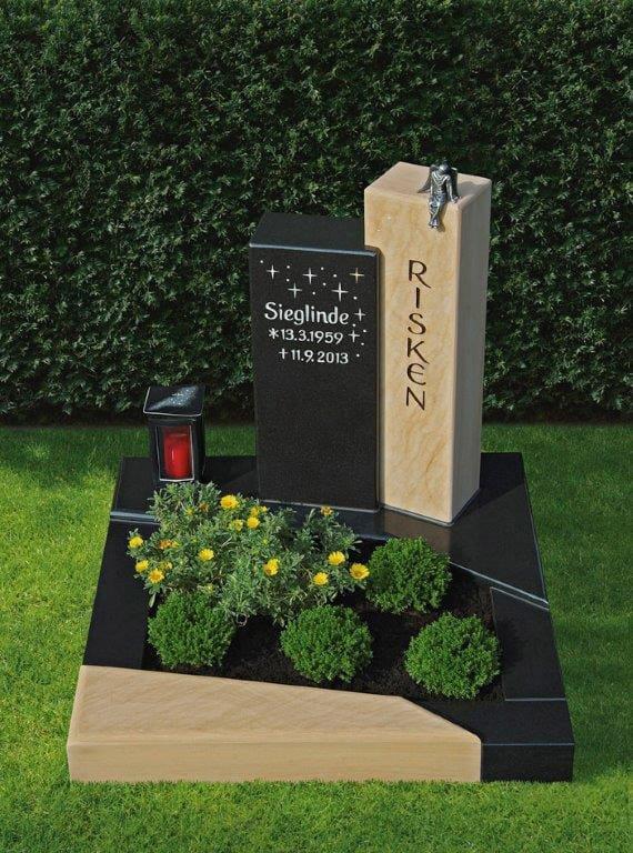 steinmetz-horst-urnengrabmal-urnengrabstein-schwarz-beige